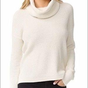 NWOT Madewell Ivory Turtleneck Sweater. Size L